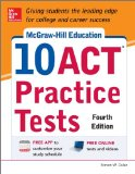 McGraw-Hill Education 10 ACT Practice Tests  4th 2014 edition cover