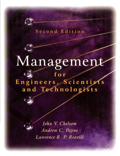 Management for Engineers, Scientists and Technologists  2nd 2005 (Revised) edition cover