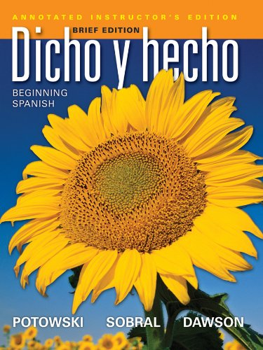 Dicho y Hecho  9th 2012 (Annotated) edition cover