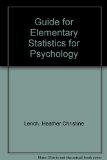 Guide to Elementary Statistics for Psychology  Revised edition cover