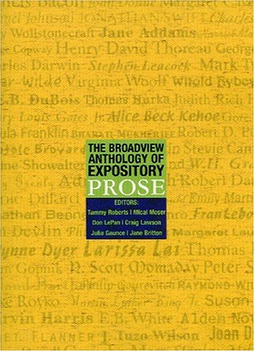 Broadview Anthology of Expository Prose   2002 edition cover
