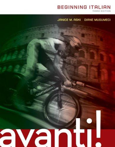 Avanti: Beginning Italian  3rd 2014 edition cover