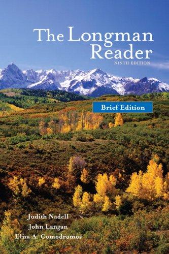 Longman Reader  9th 2011 (Brief Edition) edition cover