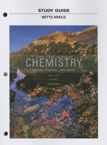 Study Guide for General, Organic, and Biological Chemistry  2nd 2014 edition cover