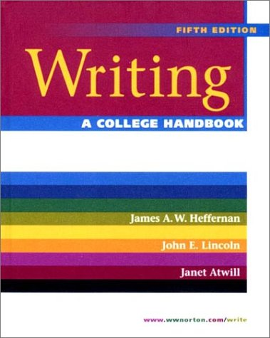 Writing A College Handbook 5th 2001 edition cover