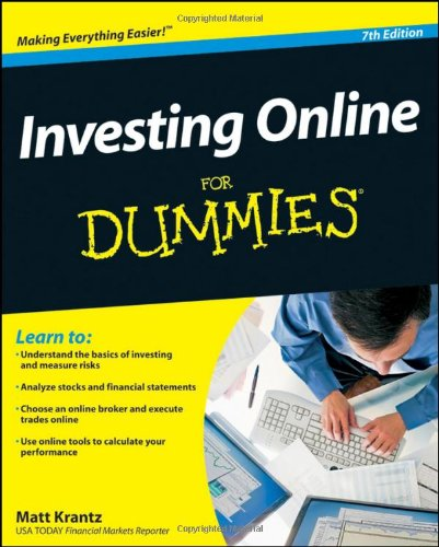 Investing Online for Dummies  7th 2010 edition cover