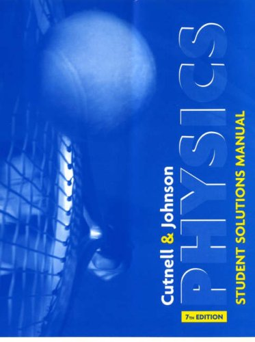 Physics, Student Solutions Manual  7th 2007 edition cover