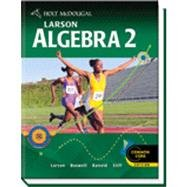Algebra 2   2009 (Student Manual, Study Guide, etc.) 9780547315263 Front Cover