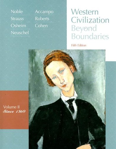 Western Civilization since 1560 Beyond Boundaries 5th 2008 edition cover