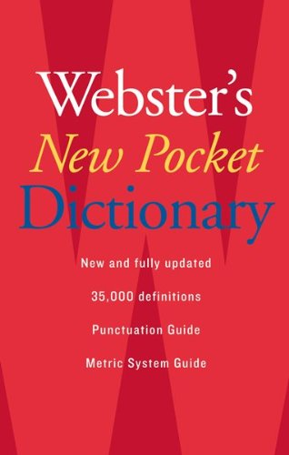 Webster's New Pocket Dictionary   2007 edition cover