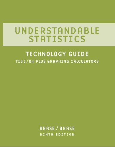 Understandable Statistics Ti 83/84 Plus Graphing Calculators - Technology Guide 9th 2009 9780618950263 Front Cover
