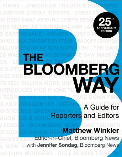Bloomberg Way A Guide for Reporters and Editors 13th 2014 edition cover
