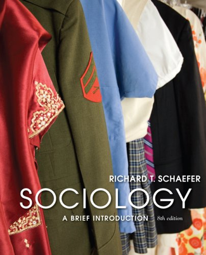 Sociology A Brief Introduction 8th 2009 edition cover