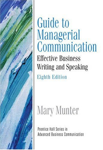 Managerial Communication Effective Business Writing and Speaking 8th 2009 (Guide (Instructor's)) 9780132424264 Front Cover