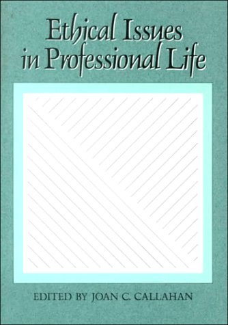 Ethical Issues in Professional Life   1988 edition cover