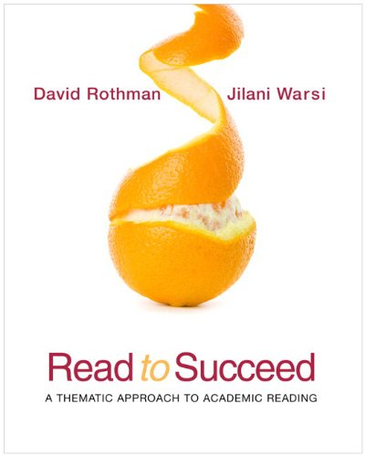 Read to Succeed A Thematic Approach to Academic Reading (with MyReadingLab Pearson eText Student Access Code Card)  2010 9780205784264 Front Cover