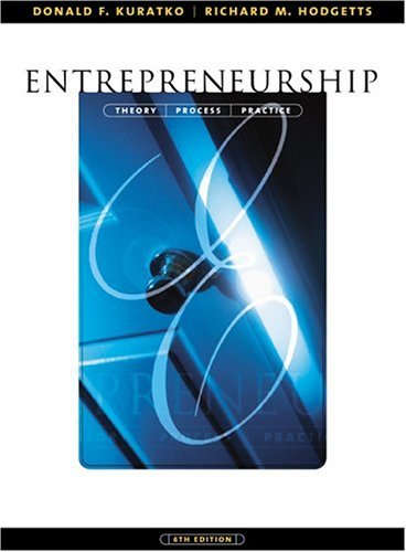 Entrepreneurship Theory, Process and Practice 6th 2004 edition cover