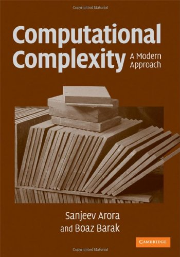 Computational Complexity A Modern Approach  2009 edition cover