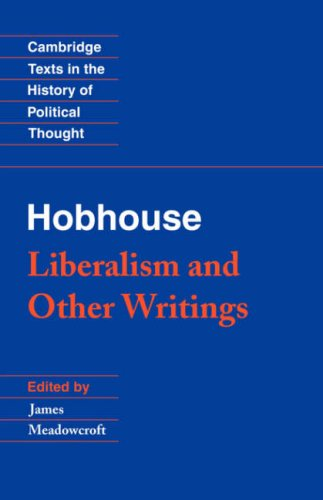 Hobhouse Liberalism and Other Writings  1994 edition cover