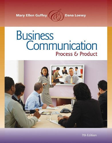 Business Communication Process and Product (Book Only) 7th 2011 9780538466264 Front Cover