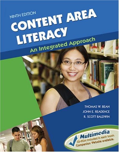 Content Area Literacy An Integrated Approach 9th 2008 (Revised) edition cover