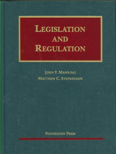 Legislation and Regulation  N/A edition cover