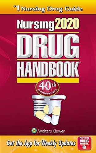 Nursing 2020 Drug Handbook  40th (Revised) 9781975109264 Front Cover