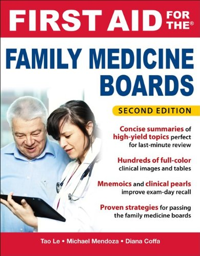 First Aid for the Family Medicine Boards  2nd 2012 edition cover