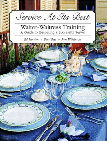 Service at Its Best Waiter-Waitress Training  2002 edition cover