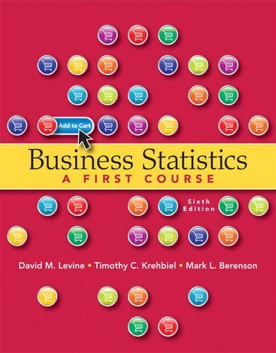 Business Statistics  6th 2013 (Revised) edition cover