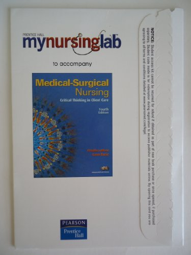 Medical Surgical Nursing  4th 2008 9780135132265 Front Cover