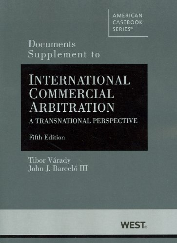 International Commercial Arbitration A Transnational Perspective 5th 2012 (Revised) edition cover