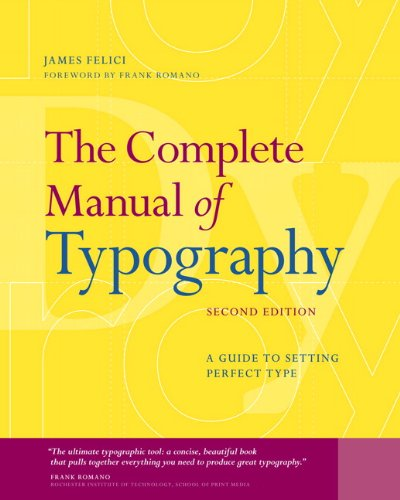 Complete Manual of Typography A Guide to Setting Perfect Type 2nd 2012 (Revised) edition cover