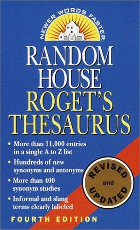 Random House Roget's Thesaurus   2001 edition cover