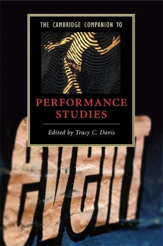 Cambridge Companion to Performance Studies   2008 9780521696265 Front Cover