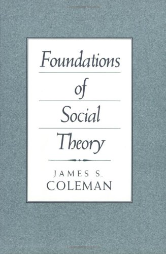 Foundations of Social Theory   1990 9780674312265 Front Cover
