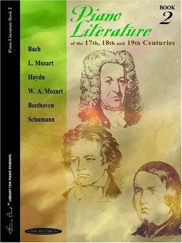 Piano Literature of the 17th, 18th and 19th Centuries   1994 edition cover