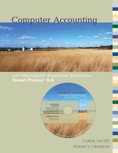 Computer Accounting With Microsoft Business Solutions Great Plains 8. 0  2006 9780073273266 Front Cover