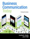 Business Communication Today + Mybcommlab With Pearson Etext Access Card:   2015 edition cover