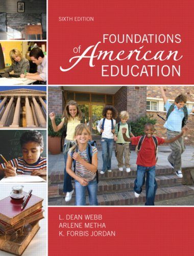 Foundations of American Education  6th 2010 edition cover