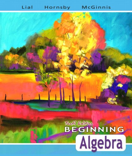 Beginning Algebra  10th 2008 edition cover