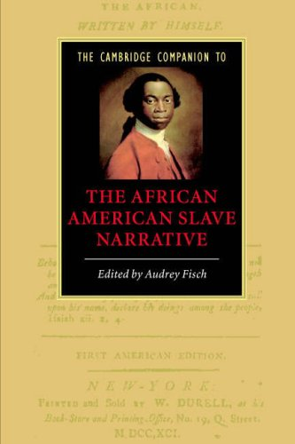 Cambridge Companion to the African American Slave Narrative   2007 9780521615266 Front Cover