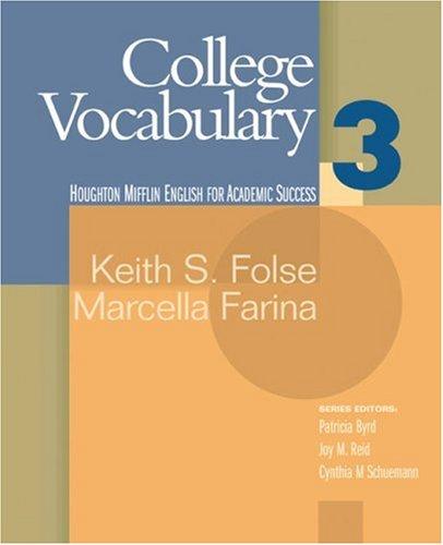 College Vocabulary   2006 edition cover