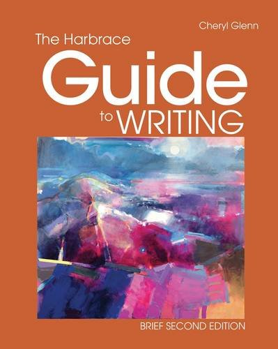 Harbrace Guide to Writing, Brief  2nd 2013 9781111840266 Front Cover