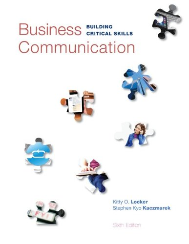 Business Communication Building Critical Skills 6th 2014 edition cover