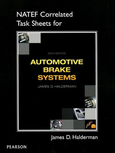 NATEF Correlated Job Sheets for Automotive Brake Systems  6th 2014 edition cover