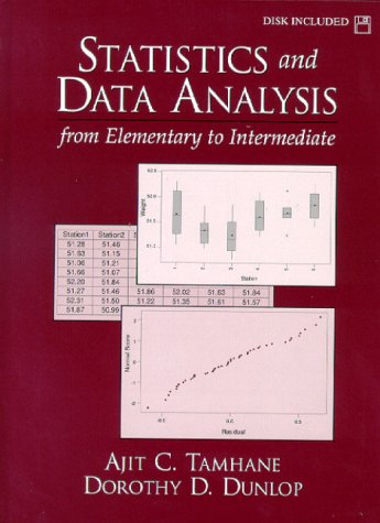 Statistics and Data Analysis From Elementary to Intermediate 2nd 2000 edition cover