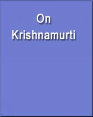 On Krishnamurti   2003 9780534252267 Front Cover