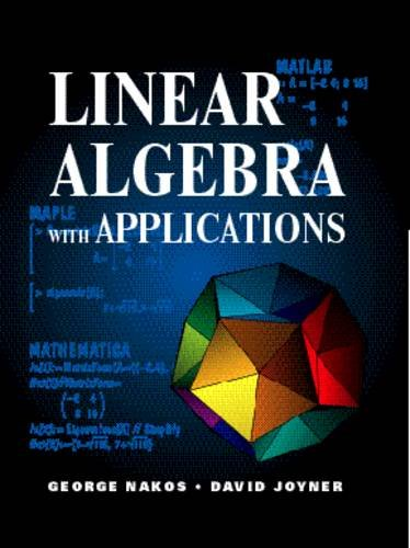 Linear Algebra with Applications  1st 1998 edition cover
