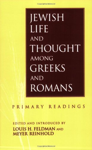 Jewish Life and Thought among Greeks and Romans  N/A edition cover